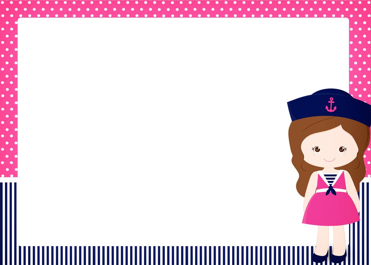 Convite, Cartão Menina Marinheira