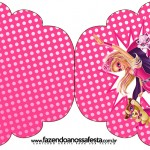 Convite Cupcake Barbie Super Princesa Rosa