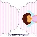 Convite Cupcake Batizado Anjinha Afro