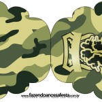 Convite Cupcake Kit Militar Camuflado