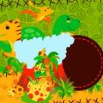 Convite Dinossauro Cute