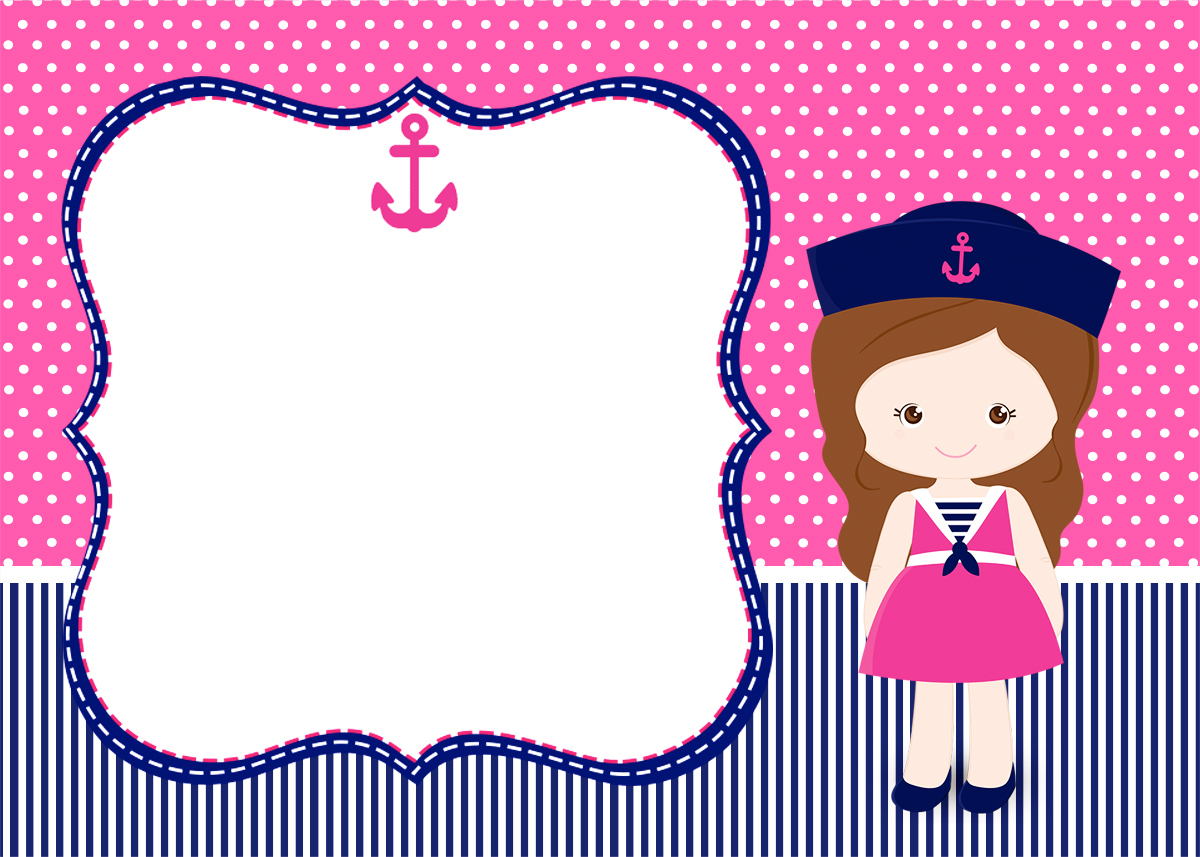 Convite Festa Menina Marinheira