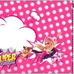 Convite Ingresso Barbie Super Princesa Rosa