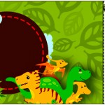 Convite Ingresso Dinossauro Cute
