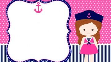 Convite Kit Festa Menina Marinheira - Modelo