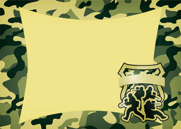 Convite Kit Militar Camuflado Modelo