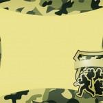 Convite Kit Militar Camuflado