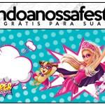 Convite Lápis Barbie Super Princesa
