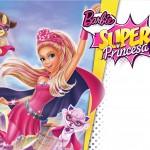 Convite, Moldura e Cartão Barbie Super Princesa Rosa