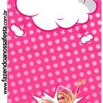 Convite Pirulito Barbie Super Princesa Rosa