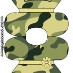 Convite Vestido Kit Militar Camuflado