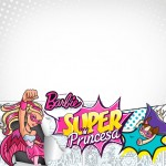 Convite ou Cartão Barbie Super Princesa Rosa