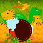 Convite ou Moldura Dinossauro Cute