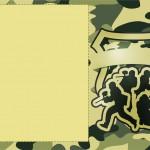 Convite ou Moldura Kit Militar Camuflado