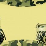 Convite para Festa Militar Camuflado