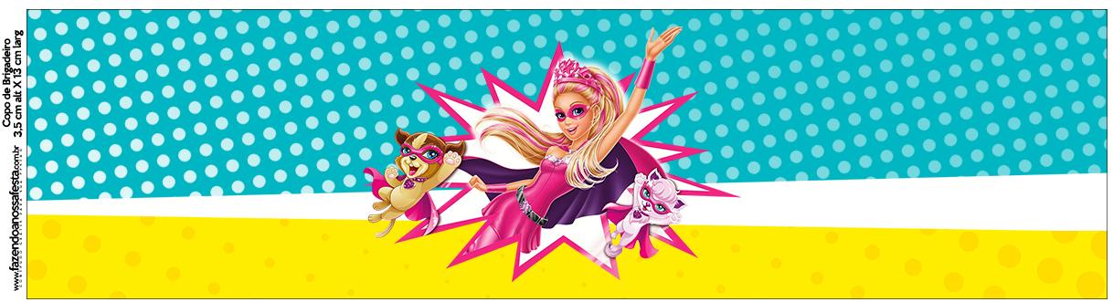 Copo Brigadeiro Barbie Super Princesa