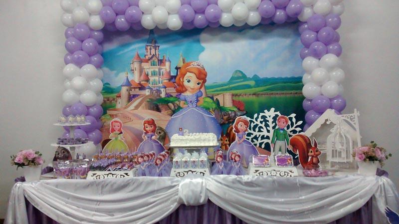 Decoração Da Festa Linda Festa Princesa Sofia Da Lavínia Fazendo A