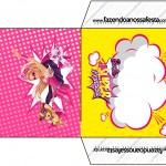 Envelope CD DVD Barbie Super Princesa Rosa