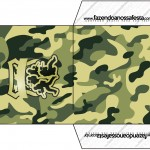 Envelope CD DVD Kit Militar Camuflado