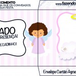 Envelope Cartão Agradecimento Batizado Anjinha Afro