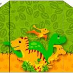Envelope Convite Dinossauro Cute