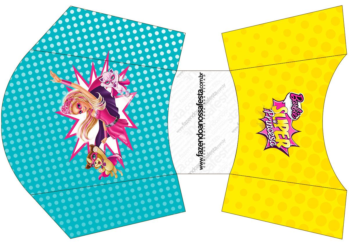 Envelope Fritas Barbie Super Princesa