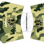 Envelope Fritas Kit Militar Camuflado