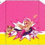 Envelope do Convite Barbie Super Princesa Rosa