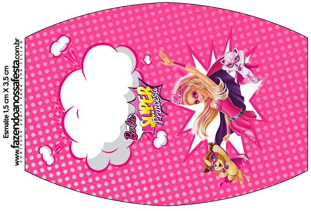 Esmalte Barbie Super Princesa Rosa