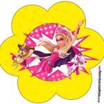 Flor Barbie Super Princesa Rosa