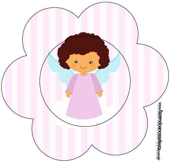 Flor Batizado Anjinha Afro