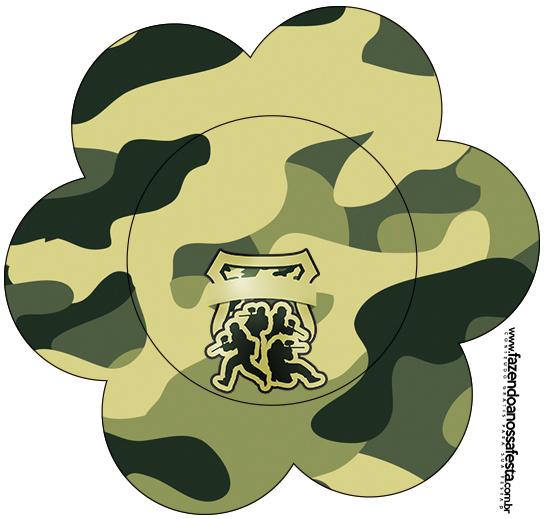 Flor Kit Militar Camuflado