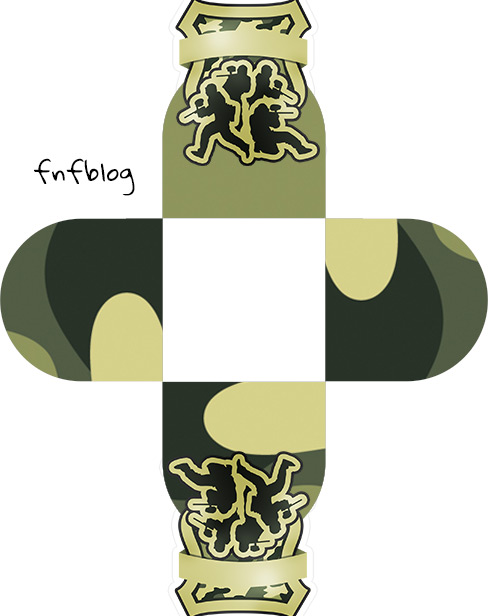 Forminha Docinho 3D Kit Militar Camuflado