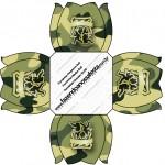 Forminhas Docinhos Kit Militar Camuflado