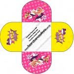 Forminhas Docinhos Redonda Barbie Super Princesa Rosa