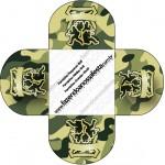 Forminhas Docinhos Redonda Kit Militar Camuflado