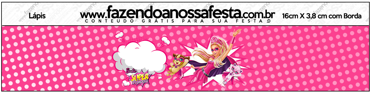 Lápis Barbie Super Princesa Rosa