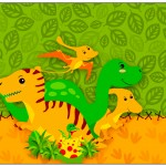 Lata de Leite Dinossauro Cute