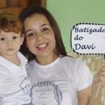 Mamãe e Davi no Batizado do Davi Nicolini