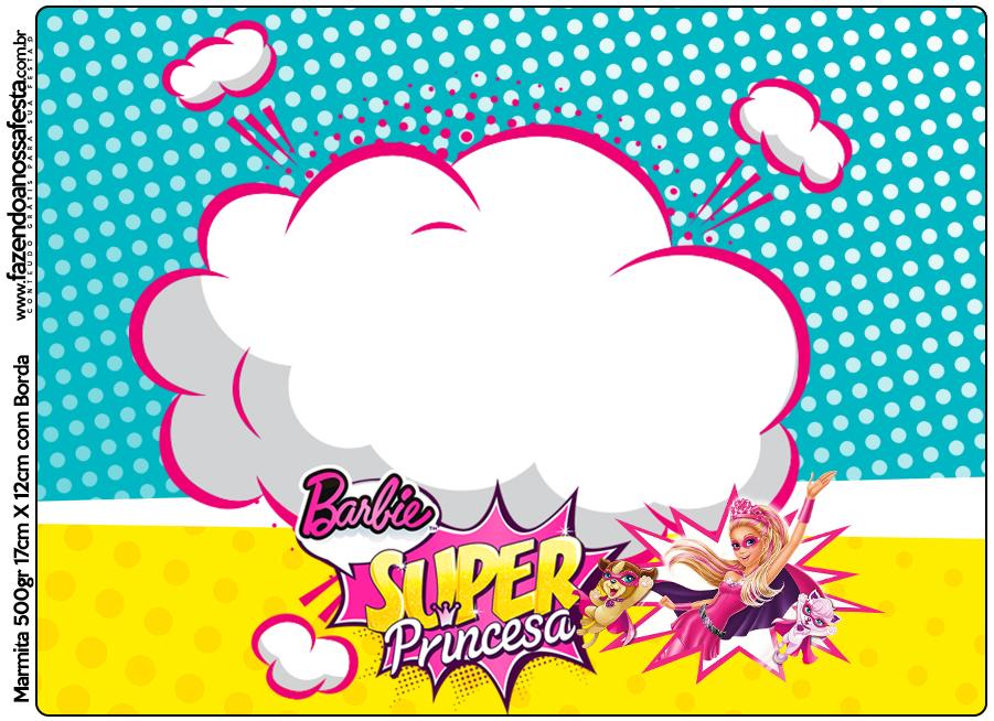 Marmita 500gr Barbie Super Princesa