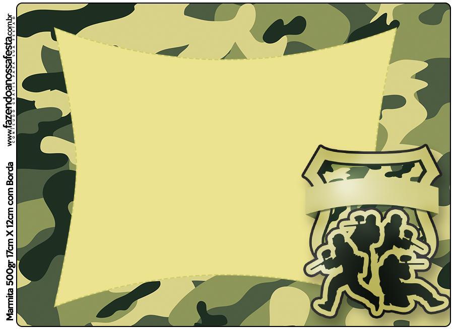 Marmita 500gr Kit Militar Camuflado