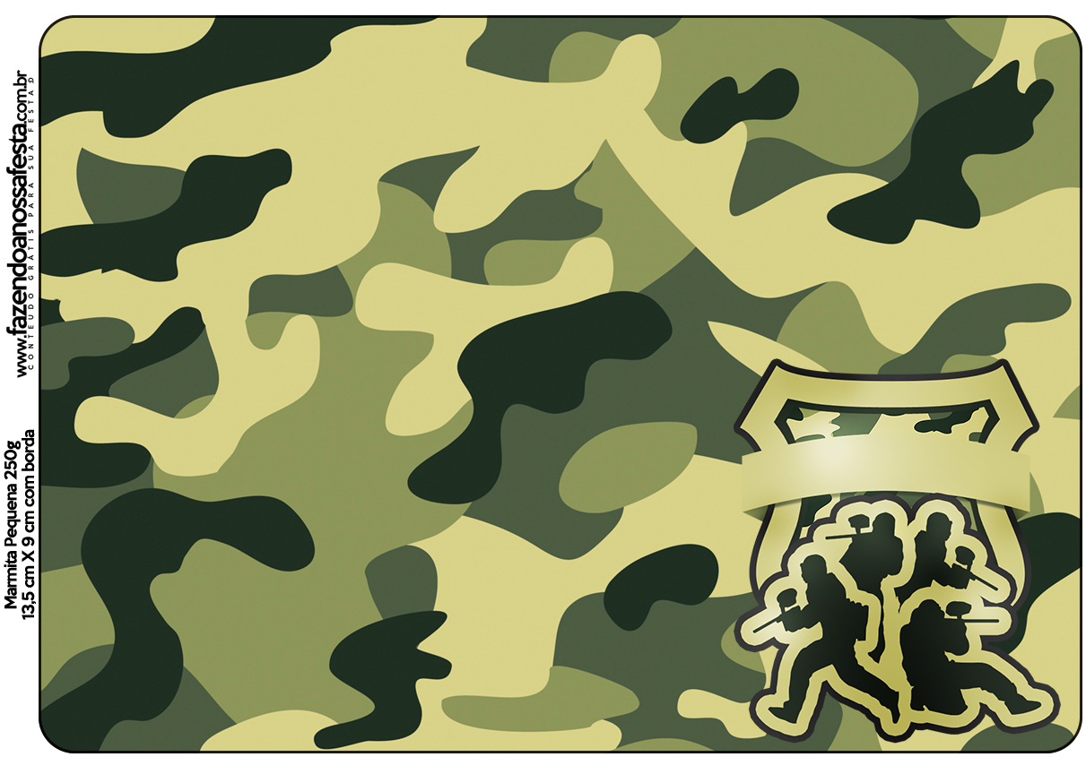 Marmita Pequena Kit Militar Camuflado