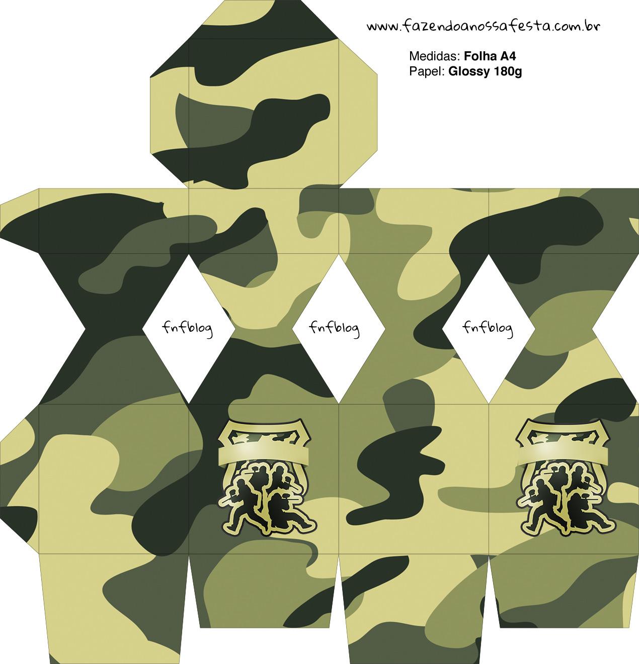 Meia Caixa Bala Kit Militar Camuflado