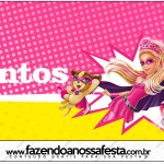 Mentos Barbie Super Princesa Rosa