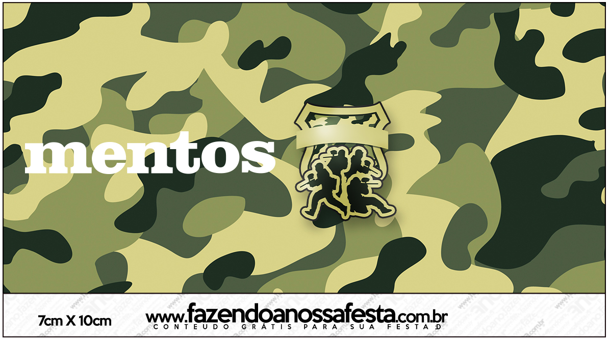 Mentos Kit Militar Camuflado