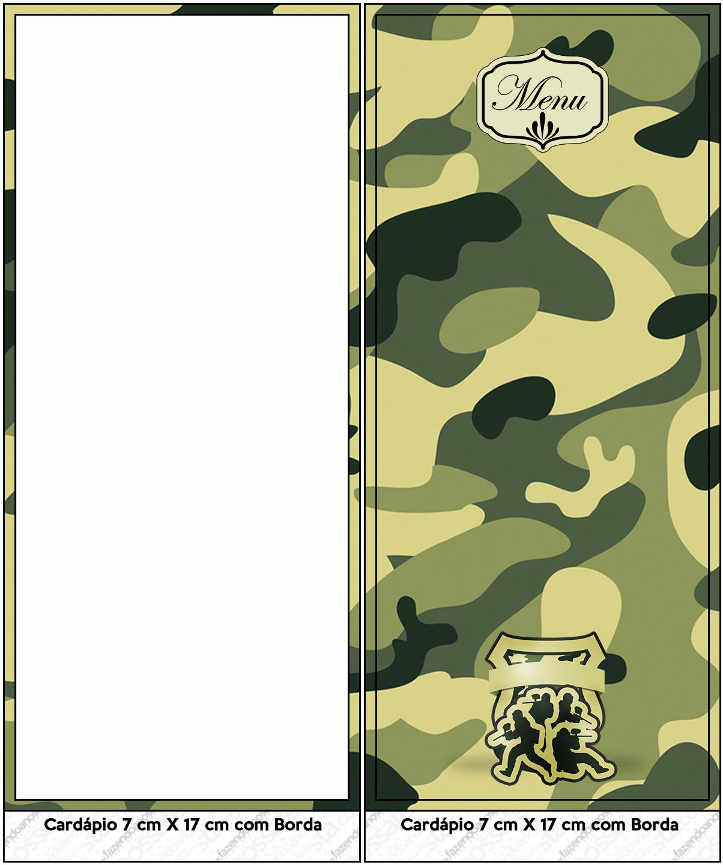 Menu Kit Militar Camuflado