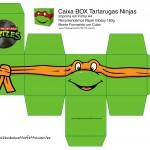 Michelangelo Caixa Box Quadrada Tartaruga Ninjas