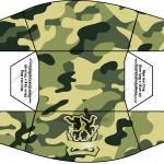 Mini Cachorro quente Kit Militar Camuflado