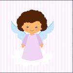 Mini Confeti Batizado Anjinha Afro