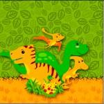 Mini Confeti Dinossauro Cute